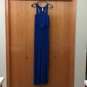 Blue Jolie jersey maxi tank dress, sz M